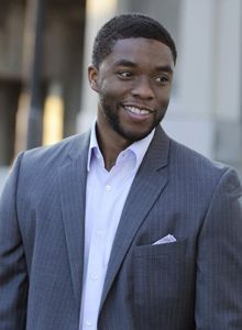 Chadwick Boseman who played Jackie Robinson in the movie 42 and recently James Brown in Get On Up