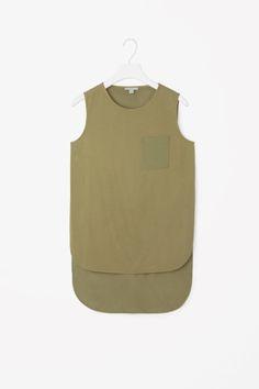 Silk panel sleeveless top
