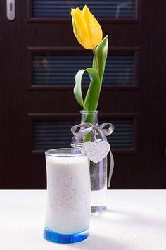Koktajl białkowy waniliowy z chia #koktajl #białkowy #wanilia #chia #shake #protein #vanilla #cocktail