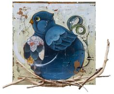 """""""L'oiseau rare I"""", by #artist Rock Therrien at #Gallery Saint-Dizier in #Montreal"""