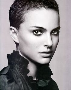 Natalie with short hair