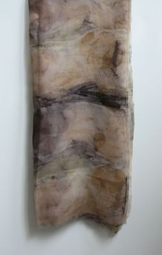 naturally dyed & printed silk scarf