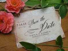 Lace Wedding Invitations vintage lace look  by sweetinvitationco, $50.00