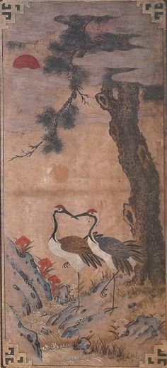 Korean Folk Art Cranes