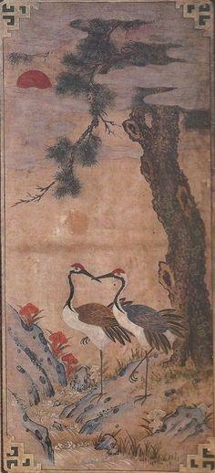 Korean Folk Art Cranes