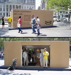 IKEA Apartment In a Box - Brooklyn ~ Clever Advertising Mothers Day Advertising, Apple Advertising, Milk Advertising, Visual Advertising, Guerrilla Advertising, School Advertising, Restaurant Advertising, Sports Advertising, Clever Advertising