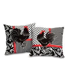 0137b0fdb562 Look what I found on  zulily! Rooster Pillow - Set of Two  zulilyfinds