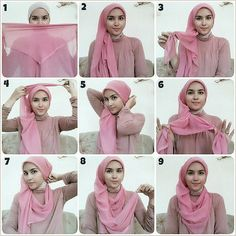 Feminine flowy hijab style with turtle neck