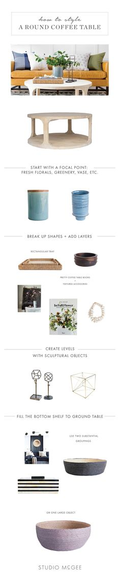 Studio McGee Round Coffee Table Style Guide