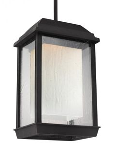 Feiss OL12809TXB-LED - McHenry 1 - Light Outdoor LED Pendant Lantern in Textured Black