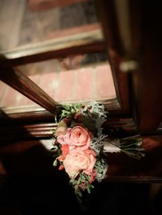 coral brides bouquet flowers by green goddess flower studio