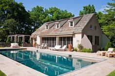 Wonderful Pool House Design in Exclusive Home Design : Classic House Design Lowes Patio Furniture Minimalist Pool House Designs