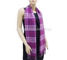 Cashmere Feel Scarf 100-12 Color: Purple