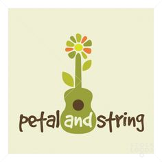 LOGO Guitar and flower combine to create a blooming good music logo template.