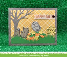 the Lawn Fawn blog: Lawn Fawn Video {10.11.16} Pillow Box Kitties by Yainea + A Happy Fall Card by Ivy