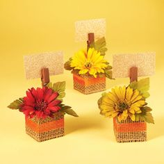 Floral Place Card Holders