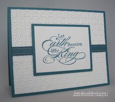 christmas card ideas | Embossed Christmas Card - Ink It Up! with Jessica | Card Making Ideas ...