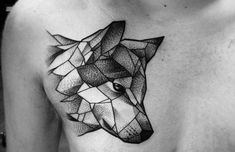 ▷ Wolf tattoo models for women and men Wolf Tattoos, Native Tattoos, Elephant Tattoos, Animal Tattoos, Wolf Tattoo Design, Haut Tattoo, Coyote Tattoo, Tattoo Geometrique, Geometric Wolf Tattoo