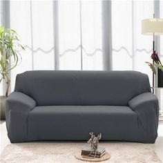 Solid Color Modern Elastic Sofa Cover for Living Room Sectional Corner Sofa Slipcover Couch Cover Chair Protector Seater Living Room Sectional, Modern Sectional, Modern Sofa, Home Living Room, Sectional Sofa, Sofa Cushion Covers, Couch Covers, Cushions On Sofa, Cover Pillow