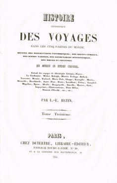 Page de Titre - Asie et Afrique Tome III - Histoire pittoresque des voyages  par L.-E. Hatin - 1844 - MAS Estampes Anciennes - Antique Prints