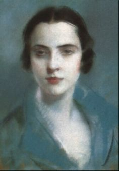 Portrait of a young lady by Lucien Victor Guirand de Scévola,  Pastel, 44.5 x 37 cm. (17.5 x 14.6 in.)