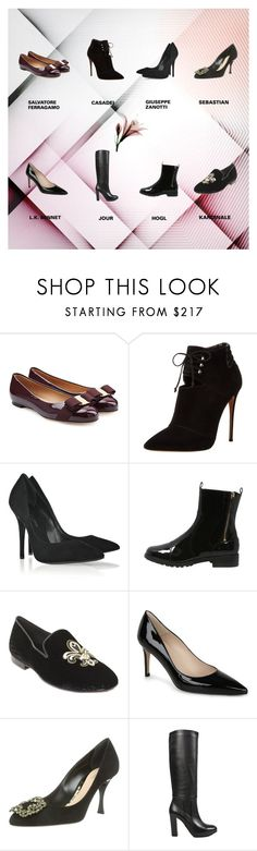 """40% OFF BJ"" by limelightmiaow on Polyvore featuring Salvatore Ferragamo, Casadei, Giuseppe Zanotti, Högl, Kardinale, L.K.Bennett, Sebastian Professional, O Jour, women's clothing and women's fashion"