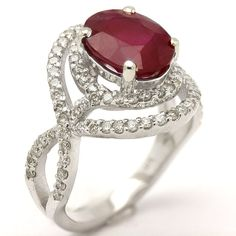 Ruby engagement rings round cut with diamonds. Small Engagement Rings, Oval Halo Engagement Ring, Red Jewelry, Vintage Jewelry, Jewellery, Wedding Rings, Avon Products, Bling Bling, Diamonds