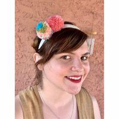 Bliss Pom Pom Headband   Etsy Pom Pom Headband, Pom Poms, Danielle May, Cactus Stickers, Bliss, Handmade, Etsy, Style, Stylus