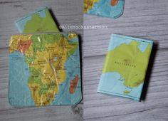 Reisepasshülle aus alter Landkarte #sewing