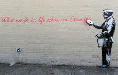 Banksy Echoes In Eternity Street Art Graffiti Poster 11x17