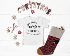 8018e1daa White Bella Canvas Triblend Christmas Baby Romper Suit Mockup, One Piece  Xmas Themed Body Suit Flat Lay, Baby Boy Girl Mock Up