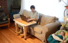 Height adjustable knock down couch / standing desk