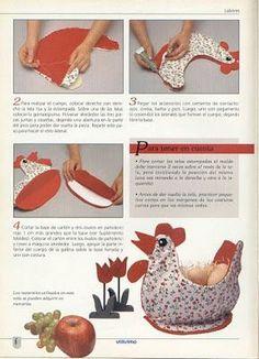 Lindas gallinas de tela ~ lodijoella