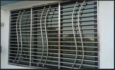 Amazing Contemporary Simple Grill Design For Windows Terrace Grill, Modern Window Design, Railing Design, Grill Door Design, Grill Design, Balcony Grill Design, Window Grill Design, Balcony Grill, Window Design