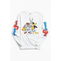 Shop Space Jam Long Sleeve Tee at Urban Outfitters today. We carry all the latest styles, colours and brands for you to choose from right here. Space Jam Outfit, Urban Outfitters Men, Cotton Shirts For Men, Branded T Shirts, Clothing Items, Long Sleeve Shirts, Graphic Tees, Casual, Barn