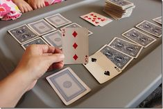 Playing Trash: A Fun Kids Card Game - Card Game: Trash-Find more instructions, perhaps you tube… Card Game: Trash-Find more instruction - Family Games To Play, Family Card Games, Fun Card Games, Card Games For Kids, Games For Teens, Craft Activities For Kids, Activity Games, Kids Cards, Dice Games