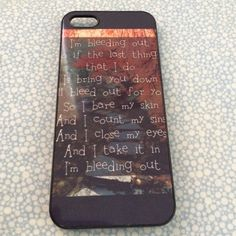 iPhone 5/5s Linkin Park Case. Song Lyrics To The Song I'm Bleeding Out By Linkin Park. Accessories