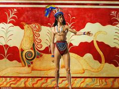 Minoan Prince by Errikos Skouloudis, based on the famous fresco, Prince of Lilies from Knossos.