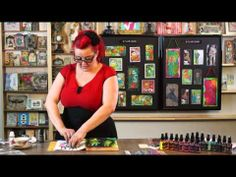 """""""Stamping Through"""" tutorial by Dyan Reaveley / Ranger. great ideas for using stencils, masks, stamps, stamp cleaner."""