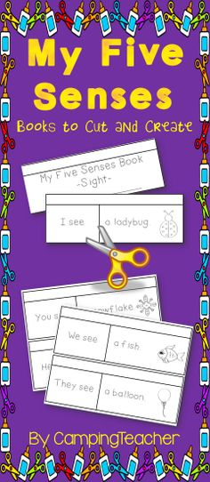 My Five Senses Flip Books for science and literacy centers.