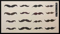 TATOUAGES TEMPORAIRES TATOO (x16) - Body art - Moustaches  - Noir