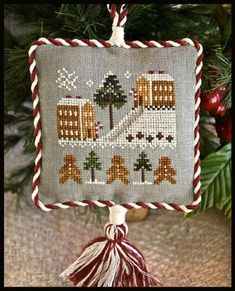Little House Needleworks - Ornament of the Month 2011 - Gingerbread Village - Cross Stitch Pattern