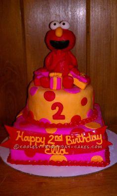 Coolest Elmo Birthday Cake... This website is the Pinterest of birthday cake ideas