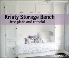 Kristy Storage Bench - free plans