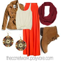 """""""Maxi Skirt Outfit 07"""" by theccnetwork on Polyvore"""