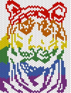 Rainbow Tiger bead pattern