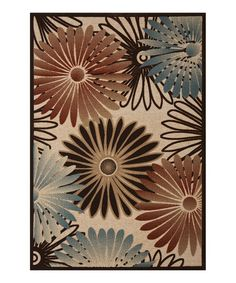 Take a look at this Beige & Ivory Flower Rug by Concord Global Trading, Inc. on #zulily today!