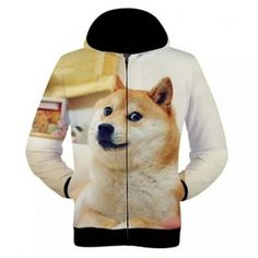 3D doge hoodie for men Shiba Inu dog sweatshirt