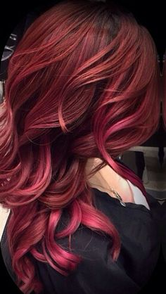 Burgundy red hair color
