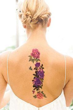 Imagem de tattoo and flowers